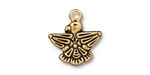 TierraCast Antique Gold (plated) Thunderbird Charm 18x19mm