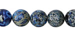 Midnight Blue Impression Jasper Round 12mm