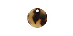 Zola Elements Light Tortoise Shell Acetate Coin Charm 14mm