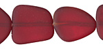 Black Cherry Red Recycled Glass Flat Freeform 21-23x18-20mm
