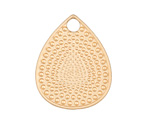 Satin Gold Finish Dotted Teardrop Pendant 25x32mm