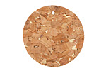 Natural w/ Metallic Gold Flecks Cork Coin Focal 30mm