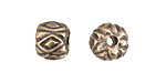 Greek Antique Brass (plated) Diamond Pattern Bead 10x12mm