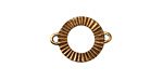 Saki Pleated Bronze Link 19x14mm