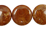 Fossil Jasper (red) Puff Coin 25mm