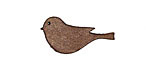 Lillypilly Golden Brown Leather Small Left Facing Sparrow 13x26mm