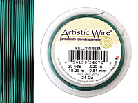 Artistic Wire Kelly Green 24 gauge, 10 yards