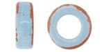 Greek Pueblo Ceramic Arctic Blue Ring 9x22-23mm
