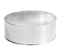 "Nunn Design Sterling Silver (plated) 1"" Channel Bangle Bracelet 70mm"