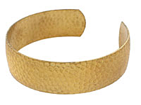 Brass Textured Narrow Cuff 60x16mm