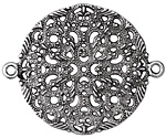 Zola Elements Antique Silver Finish Delicate Filigree Mandala Focal Link 50x40mm