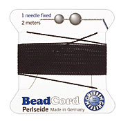 Black Griffin Nylon Beading Cord Size 6, 2 meters