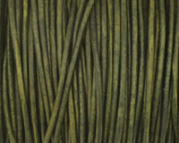 Natural Dark Green Round Leather Cord 1.5mm