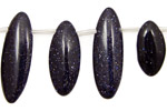 Blue Goldstone Spear Drop 8x18-28mm