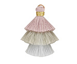 Subtle Mist Mix 3-Tiered Tassel 35mm