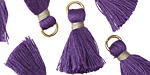 Purple w/ Gray Binding & Jump Ring Thread Tassel 18mm