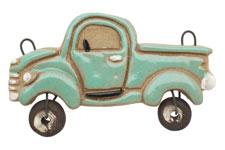 Gaea Ceramic Mint Vintage Truck Pendant 70x40mm