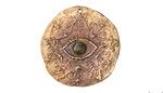 Green Girl Bronze Eye in Star Coin (w/Sapphire) 28-30mm