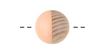 Wood & Angel Skin Resin Bead 14-15mm