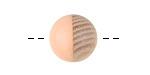 Wood & Angel Pink Resin Bead 14-15mm