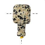 Dalmation Jasper Barrel Guru Bead 20mm