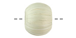 Seafoam Raffia Wrapped Wood Bead Large-Hole 16x19-20mm