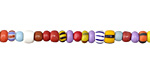 African Glass Rainbow Seed Bead Mix 4-6mm