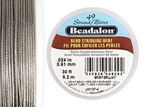 "Beadalon Bright .024"" 49 Strand Wire 30ft."