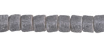 African Gray Sand Cast Powder Glass (Krobo) Heishi Bead 6-7x8mm