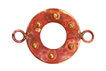 Patricia Healey Copper Raised Dot Round Link 39x26mm