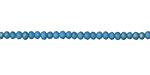 Matte Sky Blue w/ Bronze Luster Crystal Faceted Rondelle 3mm