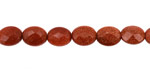 Goldstone Faceted Flat Oval 10x8mm