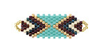 Zola Elements Chocolate Mint Hand Woven Focal Piece 36x12mm
