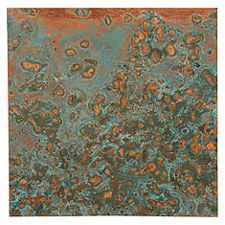 "Lillypilly Azul Patina Copper Sheet 3""x3"", 36 gauge"