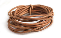 Natural Brown Round Leather Cord 2mm