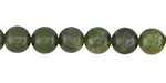 Green Serpentine (dark) Round 8mm