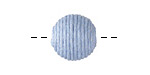 Light Blue Thread Wrapped Bead 14mm
