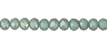 Matte Seafoam w/ Luster Crystal Faceted Rondelle 6mm