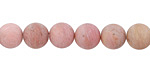 Rhodonite (matte) Round 8mm
