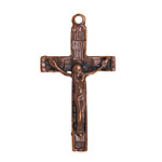 Greek Bronze (plated) Crucifix Pendant 24x44mm