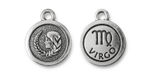 TierraCast Antique Silver (plated) Round Virgo Charm 15x18mm