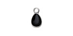 Zola Elements Jet Enamel Antique Silver (plated) Teardrop Charm 8x14mm