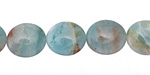 Amazonite Flat Oval 14x12mm