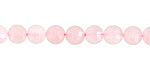 Rose Quartz Faceted Puff Coin 6mm