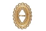Zola Elements Matte Gold (plated) Southwest Concho 22x29mm