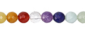 Rainbow Multi Gemstone Faceted Round 8mm