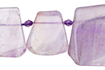 Amethyst Graduated Cut Slice Drops 16x18-25x27mm