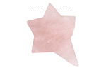 Rose Quartz Rough Cut Starburst Focal 25-30x31-36mm