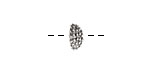 Nunn Design Antique Silver (plated) Urchin Bead Cap 5x12mm