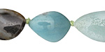 Black Gold Amazonite Flat Freeform Piece 20-30x15mm